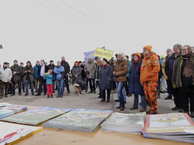 Demonstration an den Irler Klärteichen am 30.1.2016
